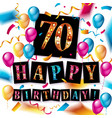 happy birthday sign in the form of a cake vector image