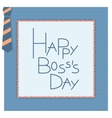 Happy boss day invitation card vector image vector image