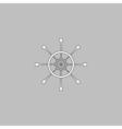 Helm computer symbol vector image vector image