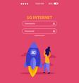 high speed internet mobile app design vector image vector image