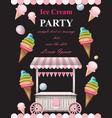 ice cream party invitation card summer ice vector image