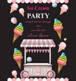 ice cream party invitation card summer vector image vector image