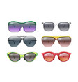 isolated sunglasses colorful sunglass realistic vector image