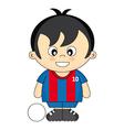 kids soccer vector image vector image