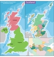 Map of Scotland vector image vector image
