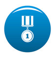 medal icon blue vector image