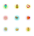 Mothers day holiday icons set pop-art style vector image vector image