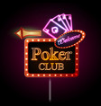 Neon sign Poker club