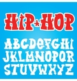 Old school graffiti font vector image vector image
