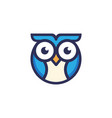 owl logo from lines sign bird icon for business vector image vector image