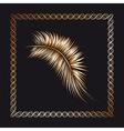 Palm tree branch in the frame vector image vector image