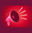 retro megaphone on red background vector image vector image