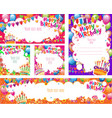 set birthday cards and banners vector image vector image