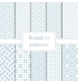 Set of 10 geometric seamless pattern vector image