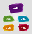 set of colorful off sale discount banners vector image