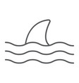 shark thn line icon animal and underwater vector image vector image