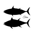 silhouette of tuna vector image vector image