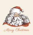 smiling santa claus portrait vector image
