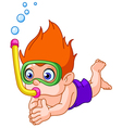 Snorkeling kid vector | Price: 3 Credits (USD $3)