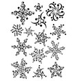 snowflake notes music christmas notes vector image vector image