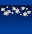 snowflakes background papercut white snowflake vector image vector image