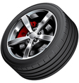 Sports car wheel vector image vector image