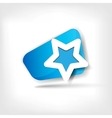 Star favorite web icon vector image vector image