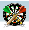 The dartboard vector image