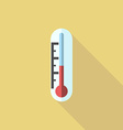 Thermometer flat style icon vector image