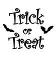 trick or treat vector image