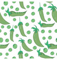 vegetable pattern hand-drawn seamless pattern vector image vector image