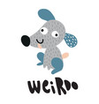 weirdo dog vector image vector image