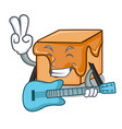 with guitar caramel candies mascot cartoon vector image vector image