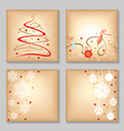 xmasl backg set vector image vector image