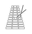 xylophone icon vector image vector image