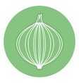 onion fresh isolated icon vector image