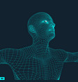 3d model of man human body wire model design vector image vector image