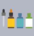 aroma oil bottle set icons vector image