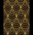 art deco golden pattern vector image