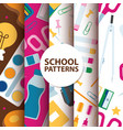 back to school supplies seamless pattern vector image vector image