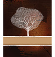 background with tree vector image vector image