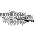 bathroom vanities are they worth the money text vector image vector image