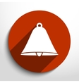 bell web flat icon vector image