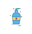 bottle icon design vector image vector image