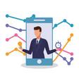 businesman and technology vector image