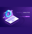 business analytics data analysis financial vector image vector image