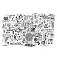 business doodle icon and hand vector image vector image