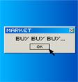 Buy message vector image vector image