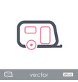 camping trailer outline icon summer vacation vector image