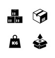 cargo simple related icons vector image vector image